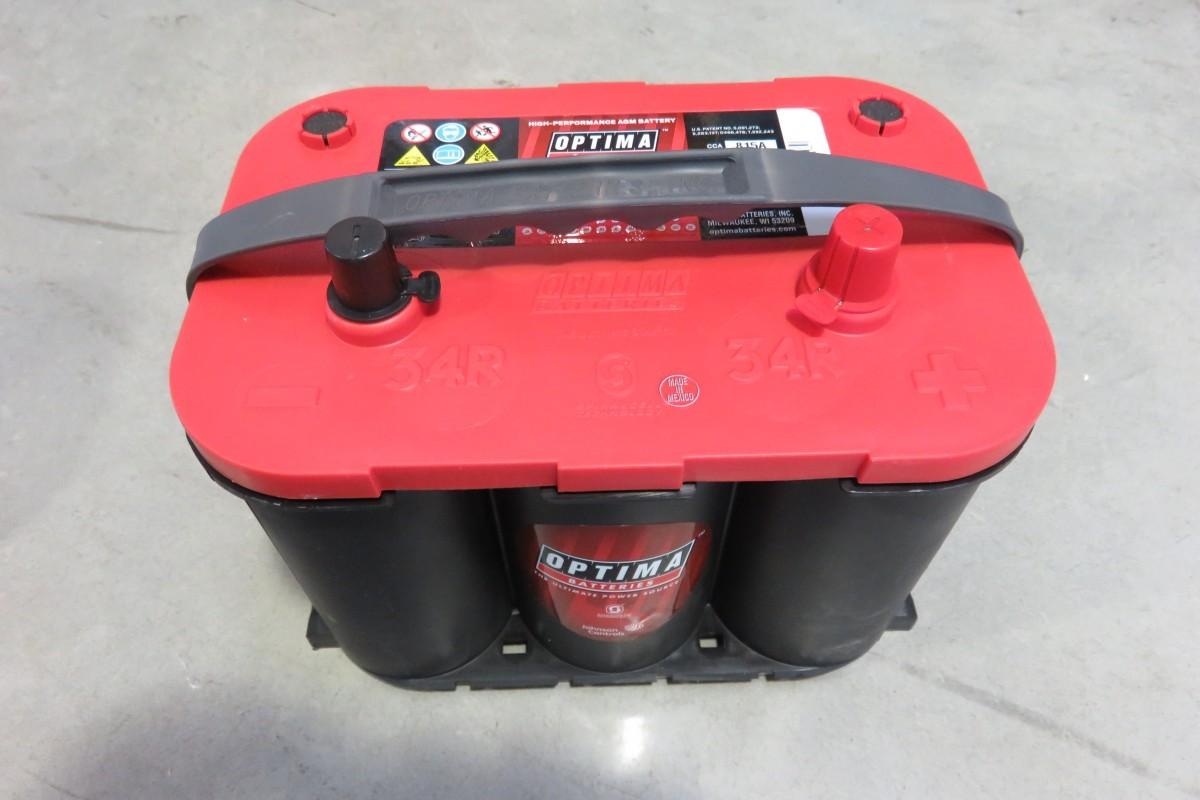 batterie red top r 4 2l optima rouge 815 dream team car. Black Bedroom Furniture Sets. Home Design Ideas